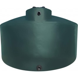 2500 Gallon Dark Green Vertical Water Storage Tank