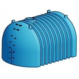 3180 Gallon Light Blue Heavy Duty Flat Bottom Utility Tank