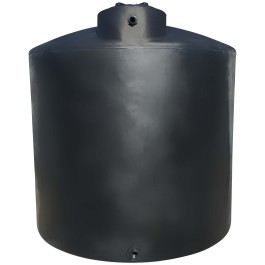 2100 Gallon Black Vertical Water Storage Tank