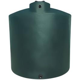 2100 Gallon Dark Green Vertical Water Storage Tank