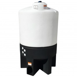 310 Gallon Cone Bottom Tank with Poly Stand