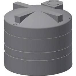 2450 Gallon Black Vertical Water Storage Tank