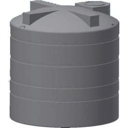 3450 Gallon Black Vertical Water Storage Tank