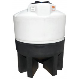 300 Gallon Cone Bottom Tank with Poly Stand