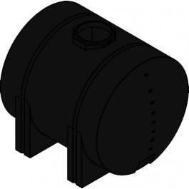925 Gallon Black Horizontal Leg Tank