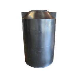 125 Gallon Black Vertical Storage Tank