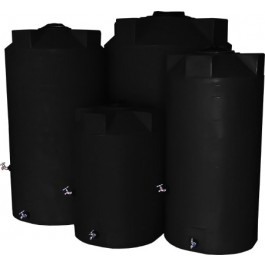 250 Gallon Black Emergency Water Tank