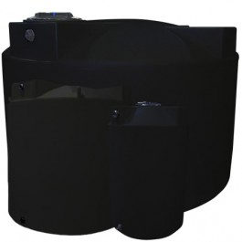 1500 Gallon Black Vertical Storage Tank