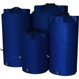 250 Gallon Dark Blue Emergency Water Tank