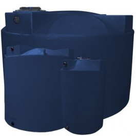 2500 Gallon Dark Blue Vertical Storage Tank