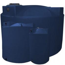 2500 Gallon Dark Blue Vertical Water Storage Tank