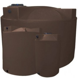 2500 Gallon Dark Brown Vertical Water Storage Tank