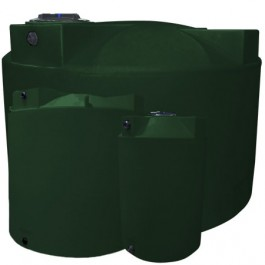 1150 Gallon Dark Green Vertical Water Storage Tank