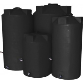 250 Gallon Dark Grey Emergency Water Tank
