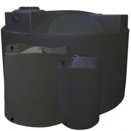 1000 Gallon Dark Grey Vertical Water Storage Tank