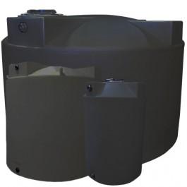 1500 Gallon Dark Grey Vertical Water Storage Tank