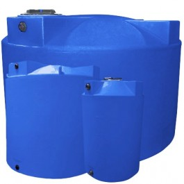 1000 Gallon Light Blue Vertical Water Storage Tank