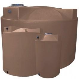 1000 Gallon Light Brown Vertical Storage Tank