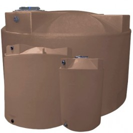 2500 Gallon Light Brown Vertical Water Storage Tank