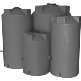 250 Gallon Light Grey Emergency Water Tank