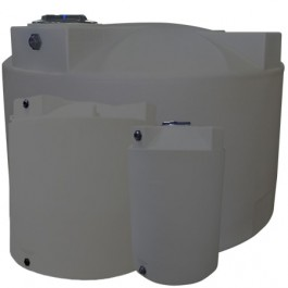 1500 Gallon Light Grey Heavy Duty Vertical Storage Tank