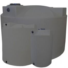 2500 Gallon Light Grey Vertical Storage Tank