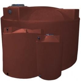 1000 Gallon Red Brick Vertical Storage Tank