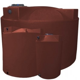 250 Gallon Red Brick Vertical Water Storage Tank