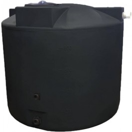 1000 Gallon Black Rainwater Collection Tank
