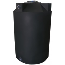 125 Gallon Black Vertical Water Storage Tank