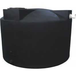 1500 Gallon Black Rainwater Collection Tank
