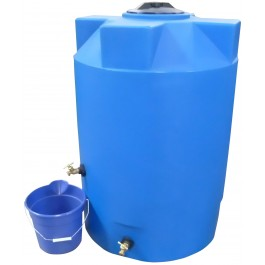 250 Gallon Light Blue Emergency Water Tank