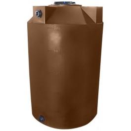 500 Gallon Dark Brown Vertical Storage Tank