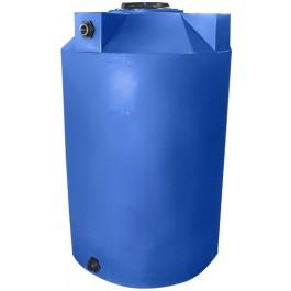 500 Gallon Light Blue Vertical Storage Tank