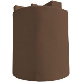 10000 Gallon Dark Brown Vertical Water Tank