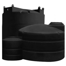 1500 Gallon Black Vertical Water Storage Tank