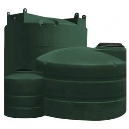 5000 Gallon Green Vertical Water Storage Tank