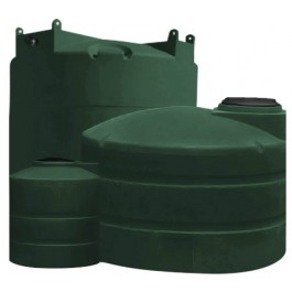 2500 Gallon Green Vertical Water Storage Tank
