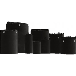 250 Gallon ASTM XLPE Black Heavy Duty Vertical Storage Tank