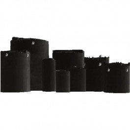 7500 Gallon ASTM XLPE Black Vertical Storage Tank