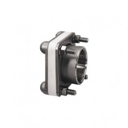 """4"""" 316 SS Female NPT Bolted Fitting w/ XLPE Gasket"""