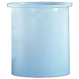 500 Gallon PP Cylindrical Open Top Tank