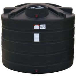 1350 Gallon Black Vertical Water Storage Tank