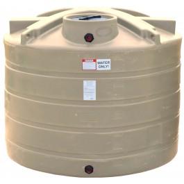 1350 Gallon Beige Vertical Water Storage Tank