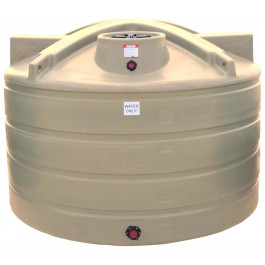 1650 Gallon Beige Vertical Water Storage Tank
