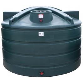 1650 Gallon Dark Green Vertical Water Storage Tank