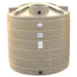 1750 Gallon Beige Vertical Water Storage Tank