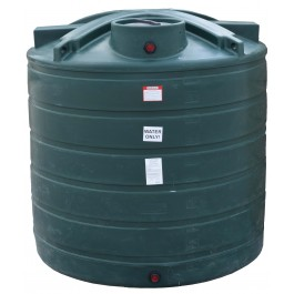 1750 Gallon Dark Green Vertical Water Storage Tank