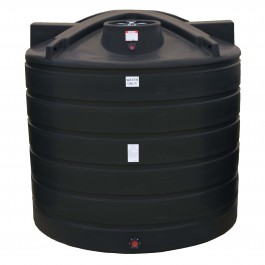 2000 Gallon Black Vertical Water Storage Tank