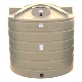 2000 Gallon Beige Vertical Water Storage Tank